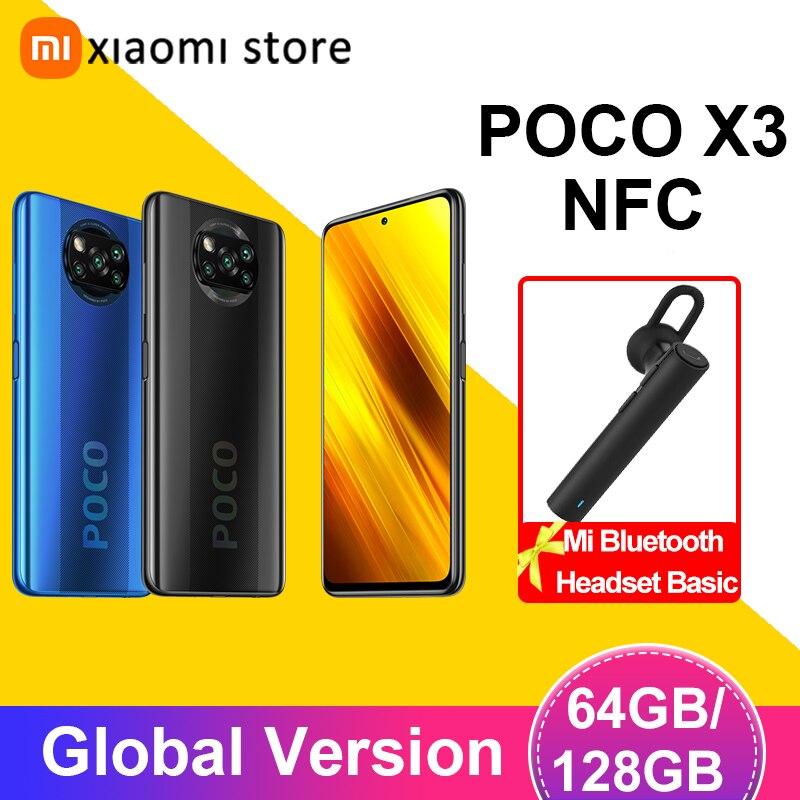 Смартфон POCO X3 NFC глобальная версия 6 ГБ 128 Snapdragon 732G 64-мегапиксельная четырехъядерная камера 6,67