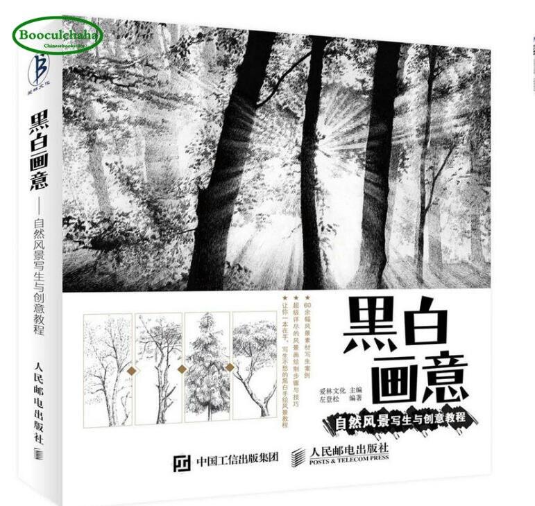 1511 21 De Réductionpaysage Naturel Peinture Et Tutoriel Créatif Livre Blanc Noir Croquis Dessin Livre Chinois Crayon Art Livre On Aliexpress