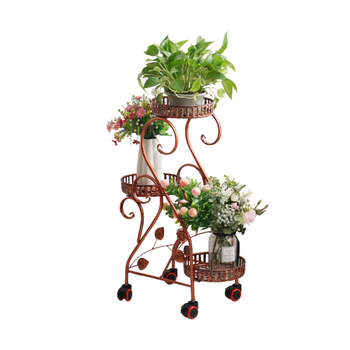 Wrought iron flower rack rack multi-layer indoor balcony floor flower pot rack home green dill hanging orchid shelf