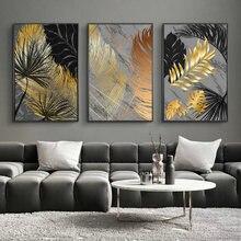 Zimny deszcz-drukuje styl skandynawski plakat złoty liść sztuka roślina malarstwo abstrakcyjne sztuka nordycka żółw liść zdjęcia Home Decor