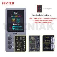 QIANLI iCopy Plus 2.1 LCD ekran fotometre iphone 7 8 8P X 11 Max ışığa duyarlı orijinal renk pil onarım programcısı