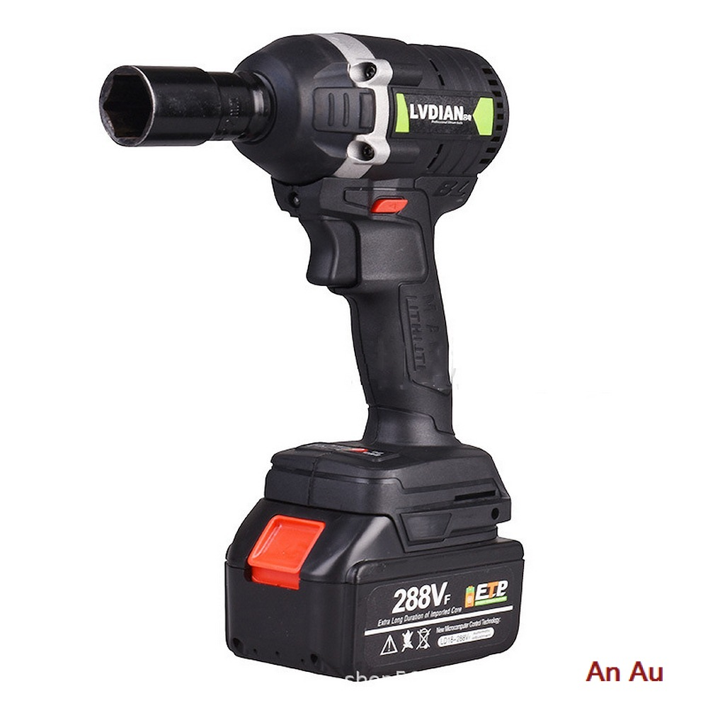 288VF Cordless Electric Impact Wrench Electric Wrench Brush 630N.m 1x Li-ion Battery Power Tools Car Repair Tools