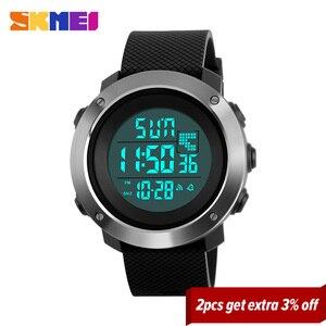 Image 2 - SKMEI Hombres Deportes Relojes Chrono Doble de Tiempo Digital Pantalla LED Reloj de Pulsera 50 M Resistente Al Agua Relogio masculino 1268