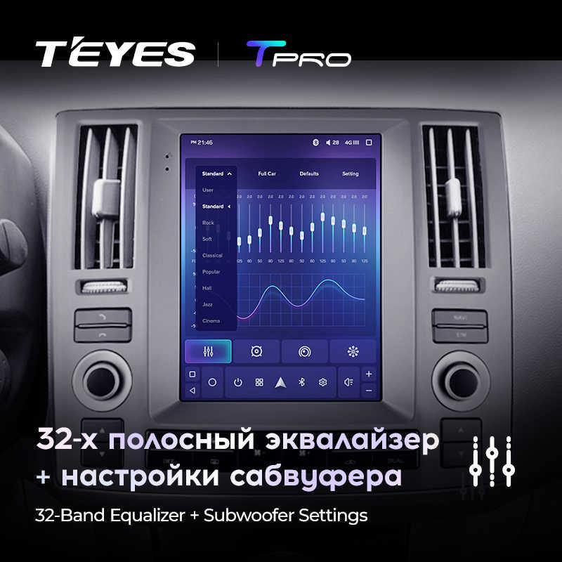 TEYES TPRO インフィニティ Fx35 テスラスタイルスクリーン 2006 2009 車ラジオマルチメディアビデオプレーヤーナビゲーション GPS アンドロイド 8.1 なし 2din