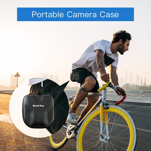 Cámara de acción deportiva MountDog 4K con mando a distancia de función ego impermeable 30M cámara de grabación de vídeo con accesorios