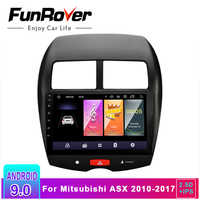 Funrover 2.5D+IPS Android 9.0 Car Radio Multimedia Player 2 din dvd GPS For Mitsubishi ASX 2010-2017 Navigation headunit Stereo