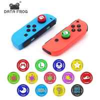 Datos Rana 2 piezas analógica pulgar palo agarre tapa piel para Nintend Switch NS JoyCon controlador palos para Joy Con switch Replacement