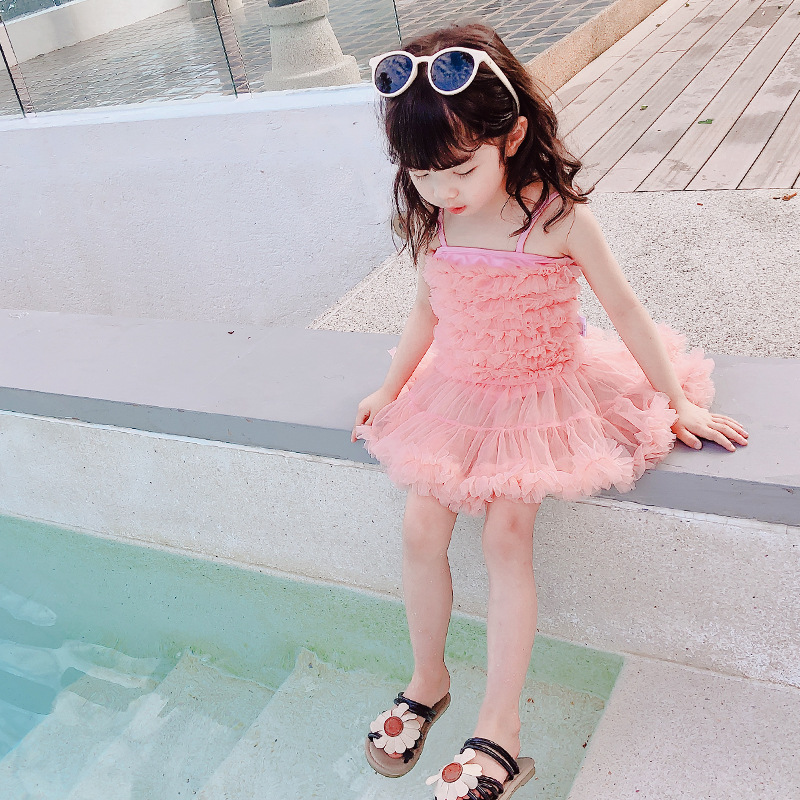 Send Swimming Cap KID'S Swimwear Small CHILDREN'S Infant Baby Bathing Suit Girls Swimwear Online Celebrity-Girls One-piece Swimm