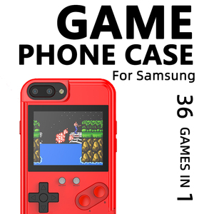 Image 1 - Retro Tetris Game Case for Samsung Galaxy S 10 S10 Gameboy Phone Case for Galaxy Note 10 Plus Led Display Cover with Games Class