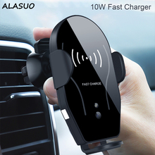 Universal Car Phone Holder 10W Wireless Charger For iPhone 8 9 X XS XR Fast Gravity sensing In Air Vent