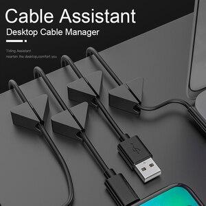 Organizer na biurko narzędzie do wykańczania kabli danych naprawiono linię telefoniczną Hub klamra kable nocne Manager artefakt wykończeniowy słuchawek
