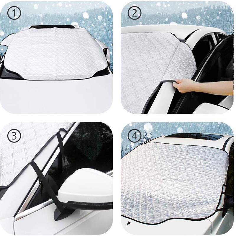 Car Windshield Snow Cover Waterproof Protection For Winter 3