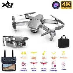 XKJ 2020 Новый E68 WIFI FPV мини-Дрон с широкоугольным HD 4K 1080P камера режим удержания высоты RC складной Квадрокоптер Дрон подарок