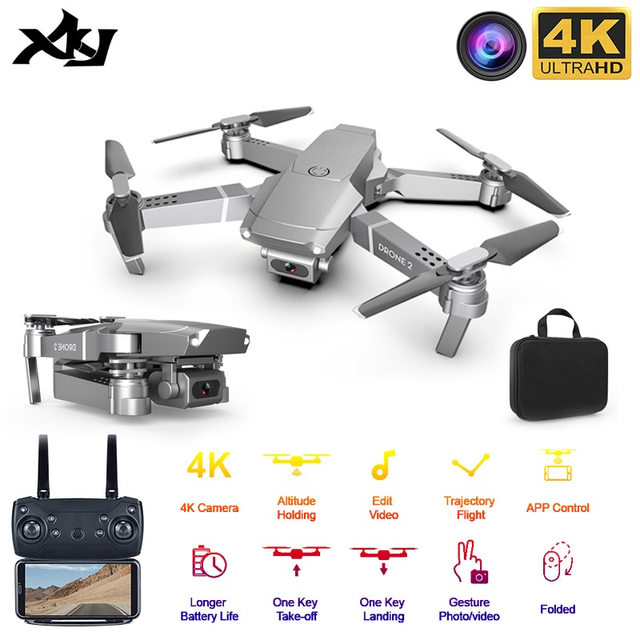 E68 WIFI FPV Mini Drone With Wide Angle HD 4K 1080P Camera Hight Hold Mode RC Foldable Quadcopter Drones Gift