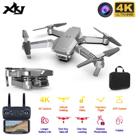 XKJ 2020 nuevo E68 WIFI FPV Mini Drone con gran angular HD 4K 1080P CÁMARA DE ALTO Modo de espera RC plegable Quadcopter Dron regalo