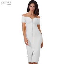 ADYCE Woman Bodycon Bandage Dress Summer 2020 Pink Halter Straps Backless Hollow Out Dress Hot Elegant Celebrity Party Dress