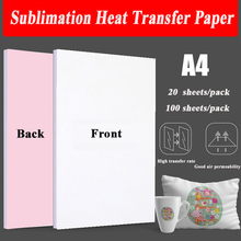 Heat-Transfer-Paper T-Shirt Phone-Case Fabrics Sublimation Printing-Design A4 Polyester