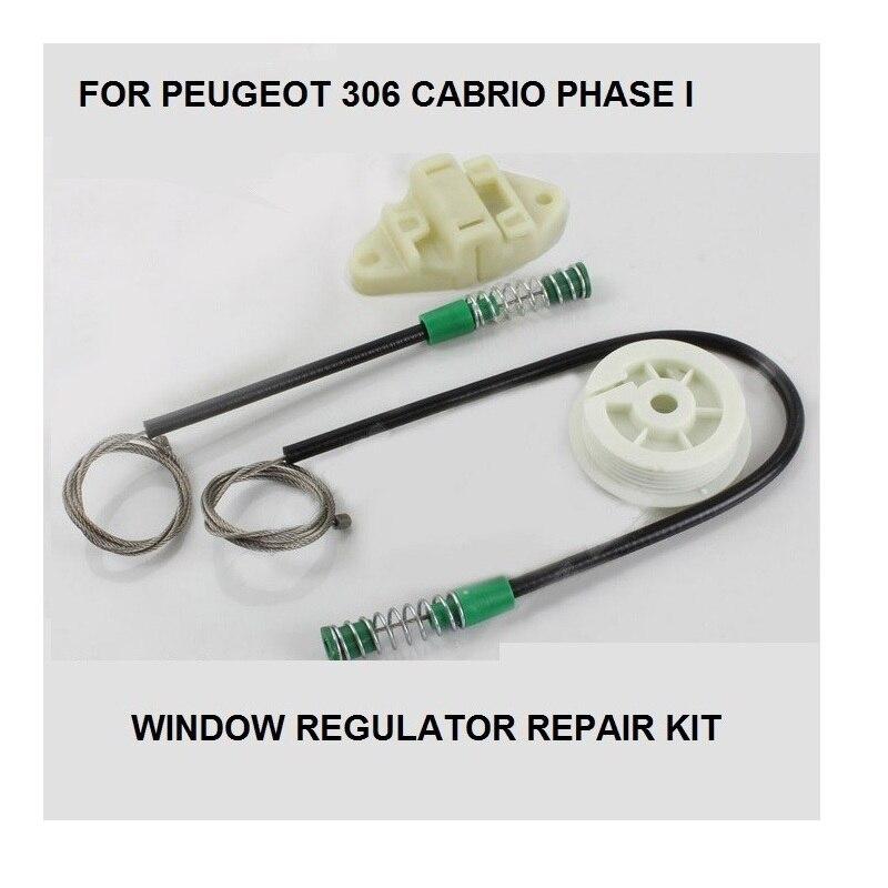 רכב חשמלי חלון רגולטור קליפים ערכת עבור פיג 'ו 306 קבריולט חלון רגולטור תיקון ערכת ימני קדמי * חדש * 1993 -1997