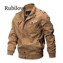 Rubilove Spring Autumn Bomber Jacket Mens Military Army Workout Windbreaker Tactical Jackets Coats
