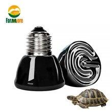 Мини Керамика обогревающая Лампа 220V 25W/50W /75W /100W E27 инфракрасный рептилия, черепаха теплый ламп Водонепроницаемый Температура контроллер