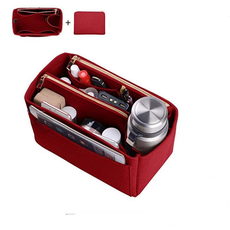 Womens Makeup Organizer/ Felt Insert Bag For Handbag Travel Inner Purse Portable Cosmetic Bags Fit Neverfull