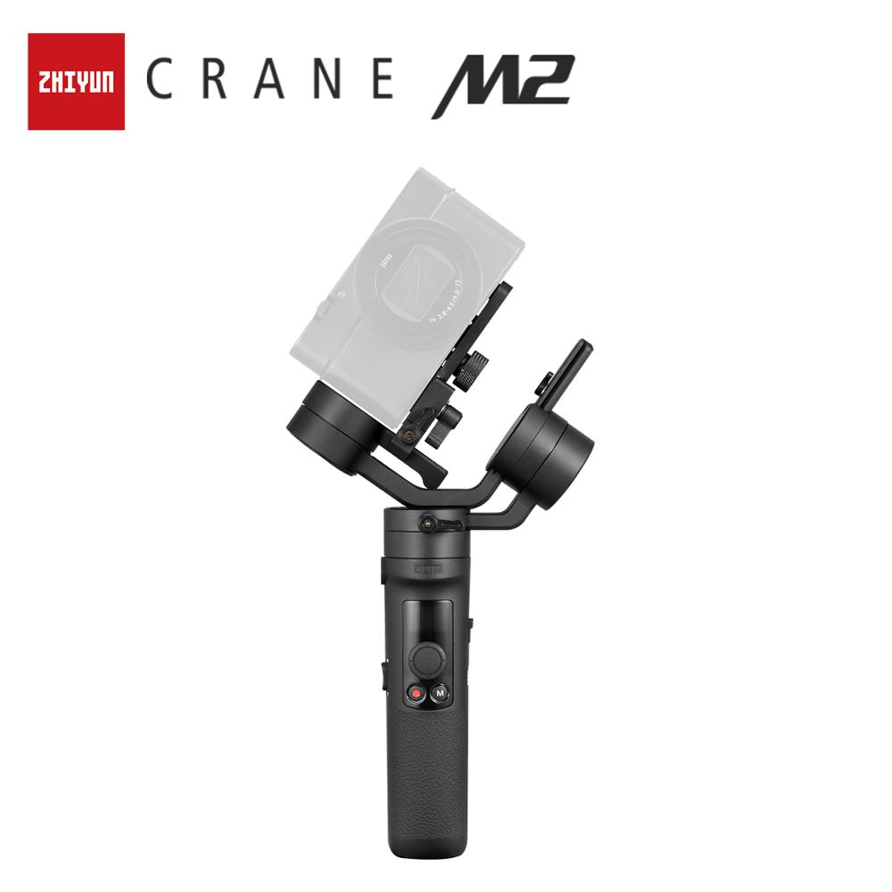 ZHIYUN Official Crane M2 Gimbals for Compact Mirrorless Action Cameras Phone Smartphones New Arrival Handheld Stabilizer 500gHandheld Gimbals   -