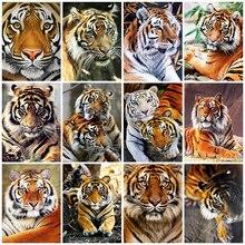 HUACAN Full Square Diamond Painting 5d Tiger DIY Diamond Embroidery Sale Animal Mosaic Needlework Home Decor Set