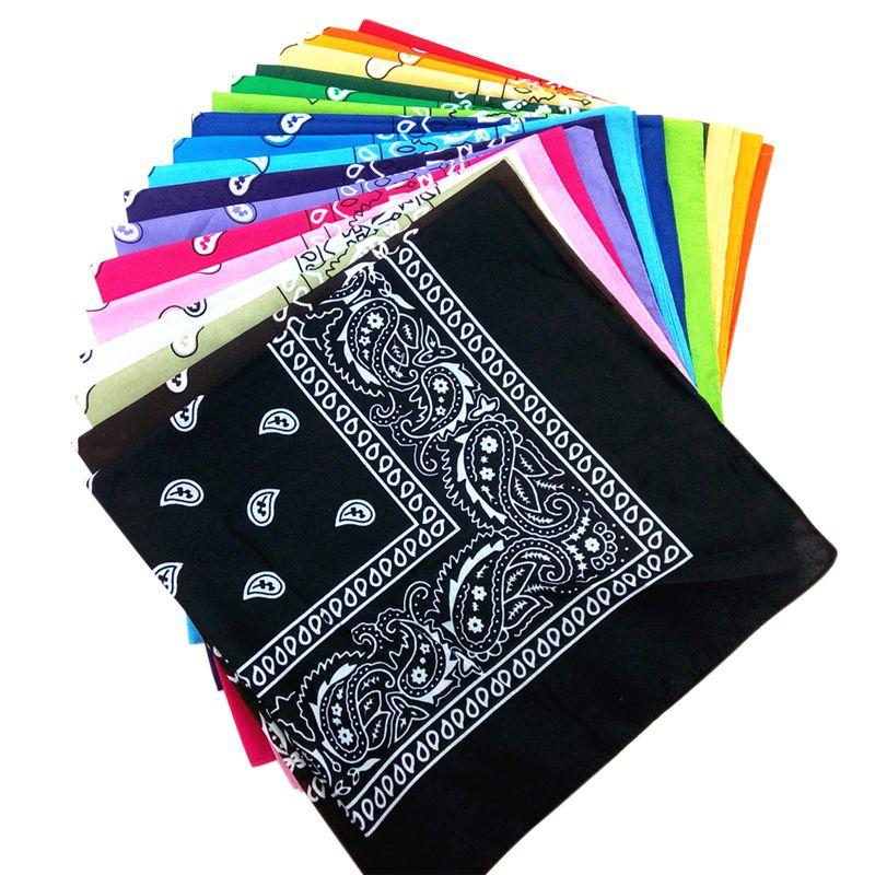55cm*55cm Fashion Cotton Bandana Square Scarf Multi-color Outdoor Sports Printed Headband For Women/Men/Boys/Girls