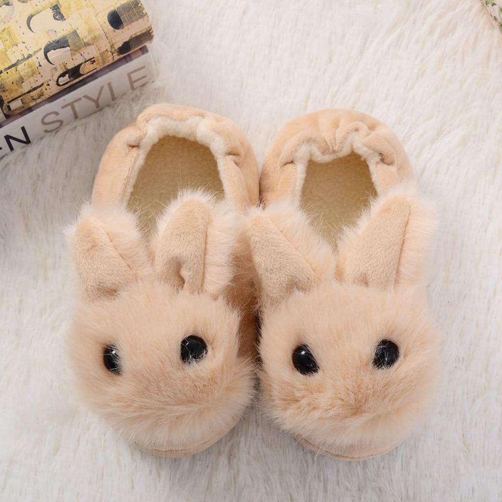 H1ff0a80dcf4b439cbd0d966c8daf96b4l Sapatos para crianças de algodão, sapatos para crianças meninos e meninas de outono, chinelos fofos com orelhas de coelho, espessamento de bola, sapatos internos