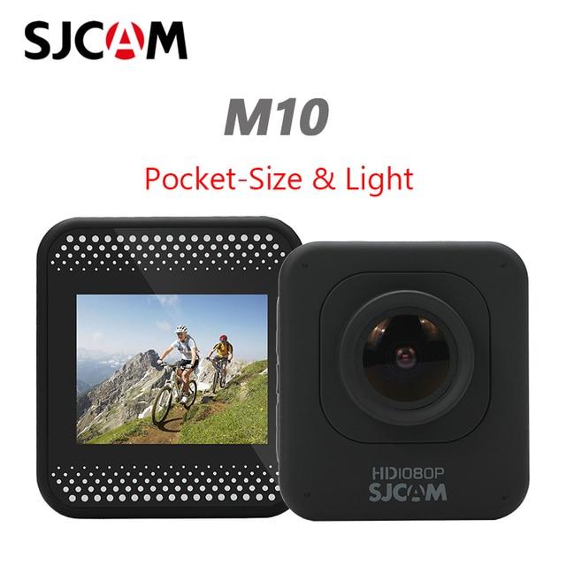 Sjcam m10 câmera esportiva de ação original, full hd 1080p, mergulho, 30m, à prova d água, submersa, câmera para capacete, câmera para gravar esportes câmera