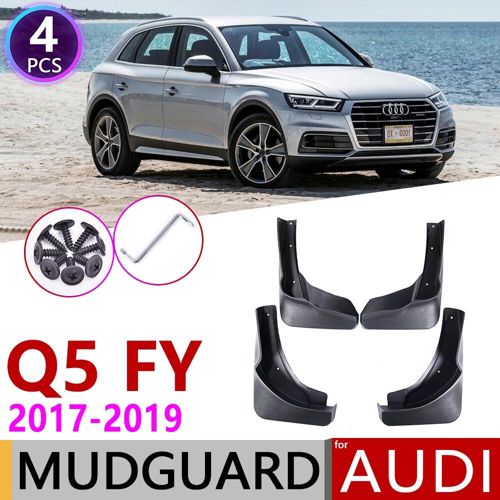 4Pcs Car Mud Flaps Splash Guard Fender Mudguard Mudflaps For Audi Q5 2009-2017
