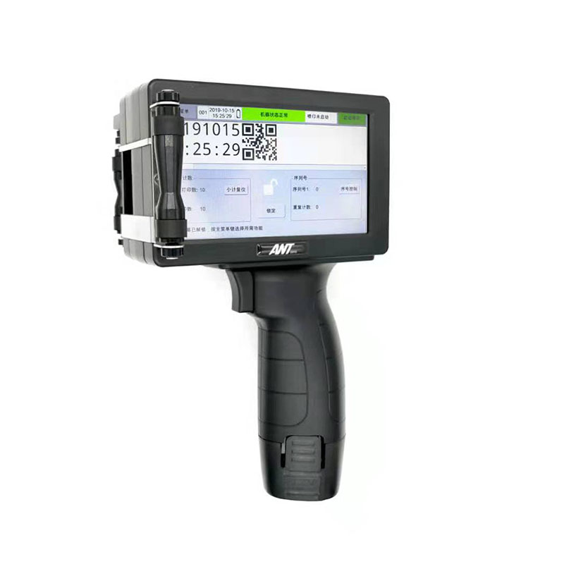 ANT0916 Handheld inkjet printer 12.7mm easy operate printer gun hand date coder