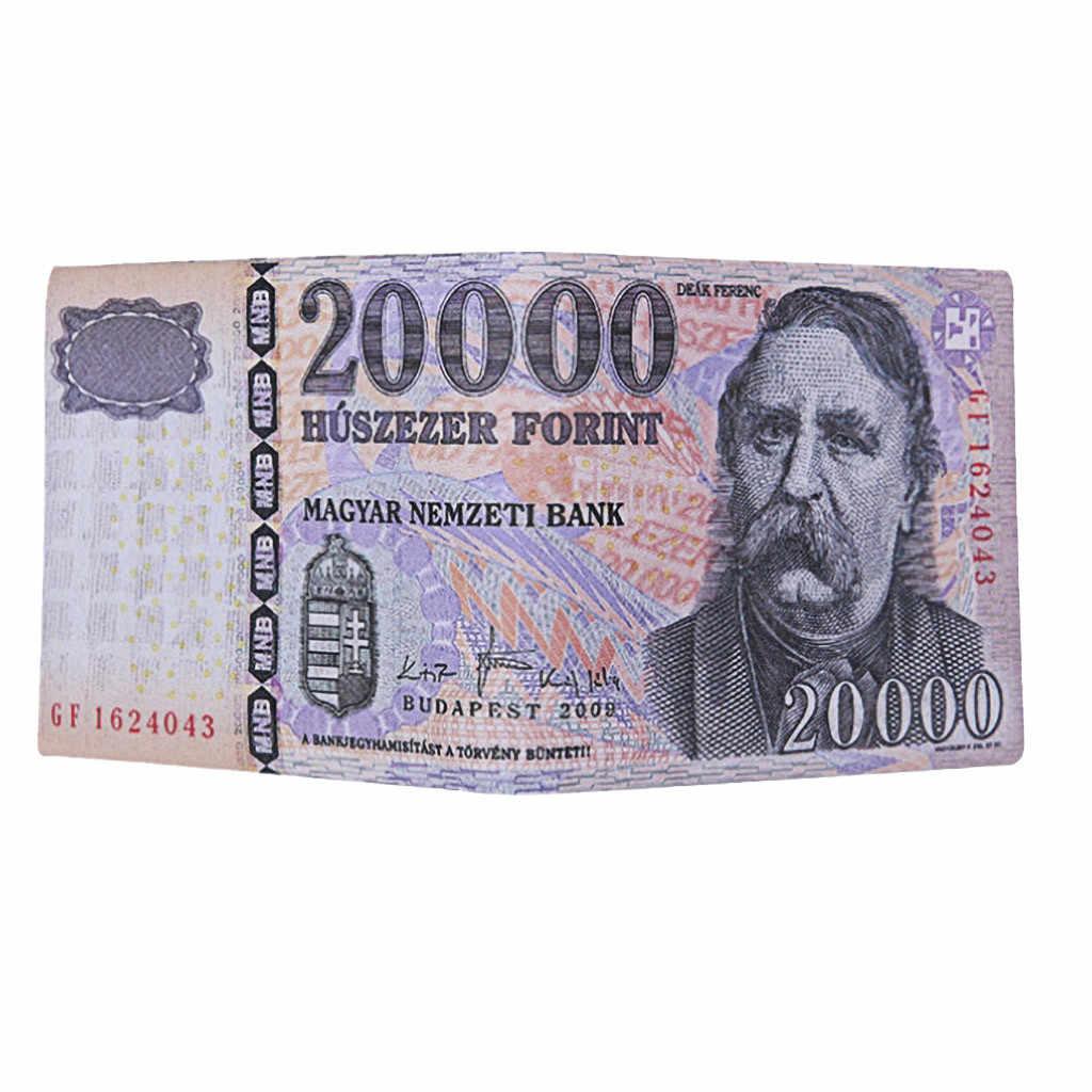 2020 nuevas carteras masculinas Chic Unisex para hombres y mujeres con patrón de billetes de dólar de la libra monedero billeteras de moda Clips de dinero