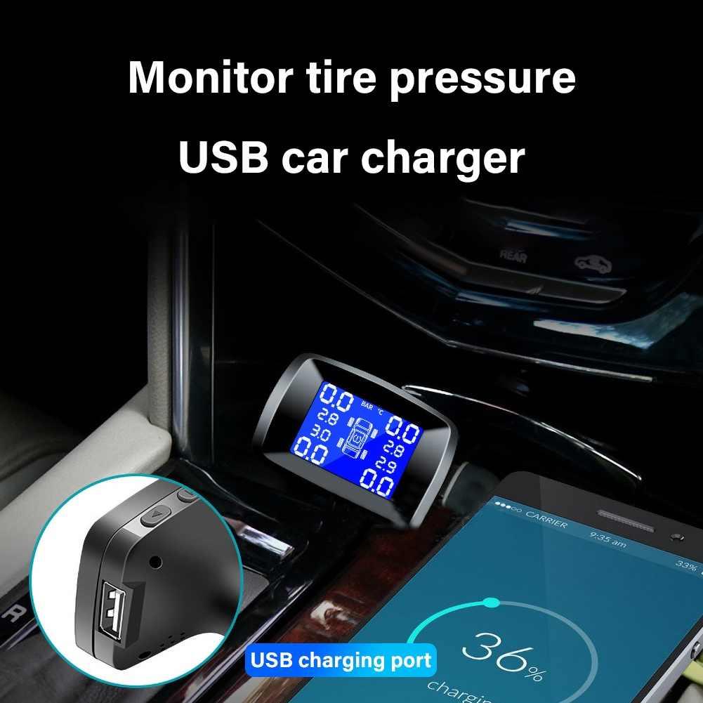 جديد سيارة TPMS ضغط الإطارات نظام مراقبة إنذار 4 عجلة الداخلية الخارجية استشعار الإطارات تنبيه درجة الحرارة