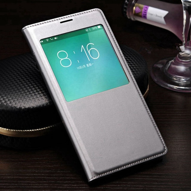 Coque de téléphone Samsung en cuir, étui mince à rabat pour Galaxy S5, i9600, veille intelligente, vue de réveil, avec puce étanche