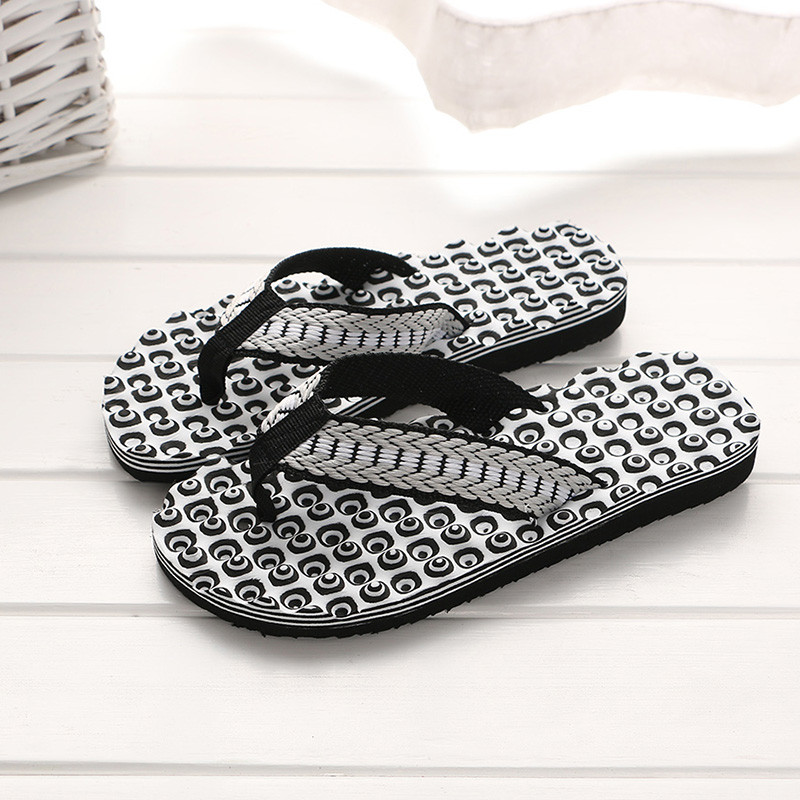 Mnycxen Men Summer Comfortable Massage Flip Flops Shoes Sandals Male Slipper Indoor & Outdoor Flip-flops Casual Beach Shoes Z70