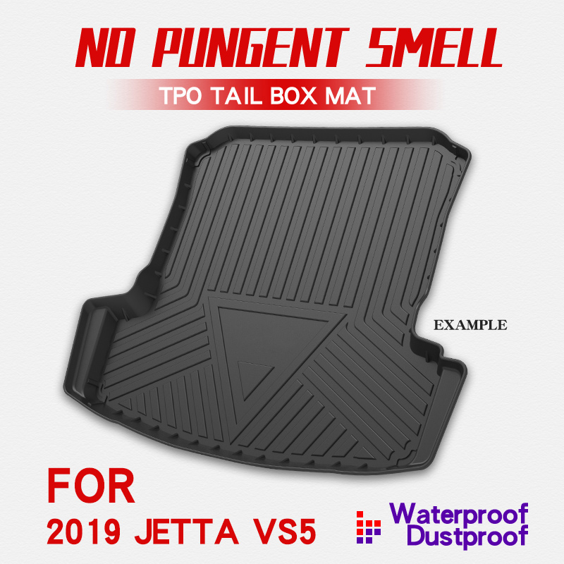 Car Cargo Liner Boot Tray Rear Trunk Cover Matt Mat Floor Carpet Kick Pad For Volkswagen Jetta VS5 2019