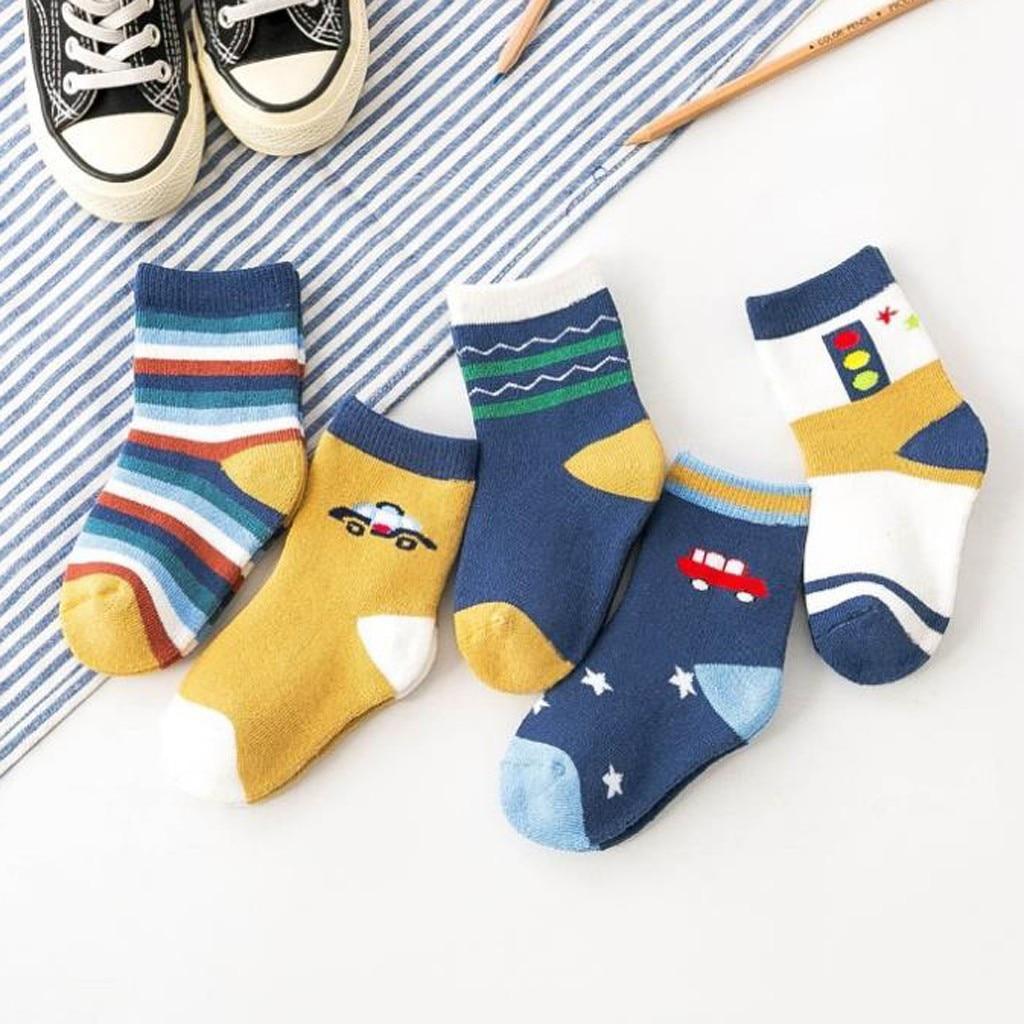 Slip-resistant Floor Socks 5 Pair  1-10 Years Comfort Warm Cotton High Quality Socks Child Girl Socks Soft  Anti Slip Baby Socks
