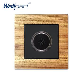 Kontrola dźwięku opóźnienia przełączniki Wallpad luksusowe przełącznika światła na ścianie panel drewniany przełączniki dotykowe Interrupteur czas opóźnienia 45 sekund tanie i dobre opinie Wall Switch Z tworzywa sztucznego 12 Years New Arrival Dotykowy włącznik wyłącznik Wall Light Switch Black White Wood