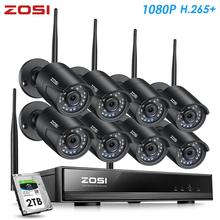 ZOSI H.265 1080P Wireless CCTV Security Camera System Kit 8 Channel NVR 2MP Outdoor Video Surveillance IP Cameras with WiFi