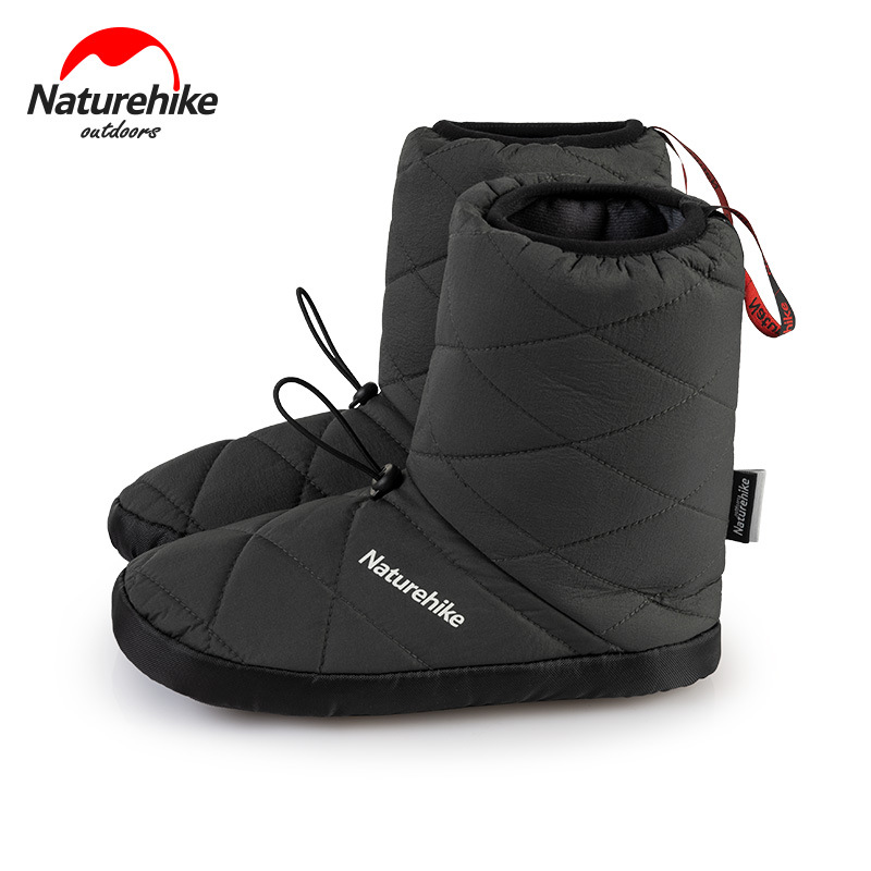Naturehike November New High Tube Warm Camp Shoes Outdoor Insulation Windproof Waterproof Camping Indoor Portable Cotton Shoes