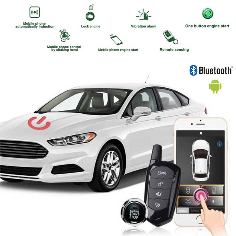 Keyless Entry Remote Starters Kit for Cars,Mobile Phone Bluetooth App Remote Car Starter,Automatic Central Locking//Unlock System Car Alarm System