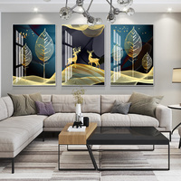 Abstract Scenery painting 5D Crystal Porcelain Painting Lovers deer Living room Home art wall decoration High end handicrafts