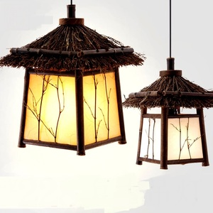 Bamboo Chinese pendant lights personality original living room restaurant bar cafe staircase home lighting pendant lamps ZP8985(China)