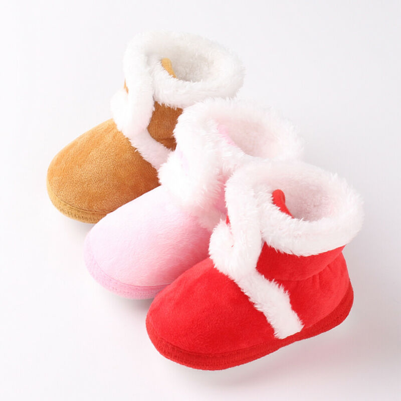 Pudcoco New Arrival Newborn Baby Cute Winter Booties Sole Pram Shoes Warm Boot Crib Prewalker 0-18M