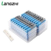 Langzhi 100 PCS SCไฟเบอร์ออปติกQuickเย็นFTTH SC Single Mode UPC Fast Connector SC UPC Optic Fiber Quick Connector