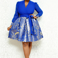African Dresses For Women Clothes Print Ankara Long Sleeve Dress Clothing Africian