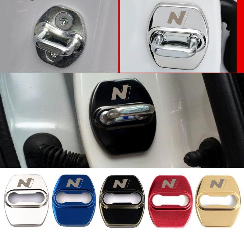 4 шт крышка дверного замка автомобиля для Hyundai Tucson Ix20 Creta N Nline пряжка с логотипом чехол эмблема стикеры автомобильные аксессуары авто Стайлинг Наклейки на автомобиль      АлиЭкспресс