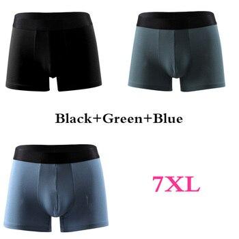 3pcs Xiaomi Men Underwear 4XL-12XL Big Size Loose and breathable Men's boxers Large Fat Guy Shorts Panties Male Underpants 2020 19