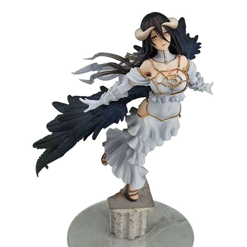 Overlord King Albedo <font><b>Sexy</b></font> <font><b>Girl</b></font> Anime Cartoon Action Figure PVC Toys Collection Figures For Friends Gifts 29cm image